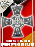 GER - Ehrenkreuz der Bundeswehr in Silbe