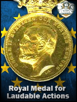 EU - Royal Medal for Laudable Actions (Qtde: 1)
