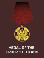 RUS - Medal of the Order 1st Class (Qtde: 1)
