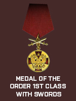 RUS - Medal of the Order 1st Class with (Qtde: 1)